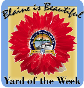 Blaine is Beautiful Yard of the Week Logo